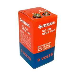 Eveready 246 Carbon Zinc 9V Battery Neda 1602 PP6 6F50 2 Fast SHIP