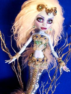 Abby Bominable OOAK Mermaid Custom Monster High Doll Repaint Makeover