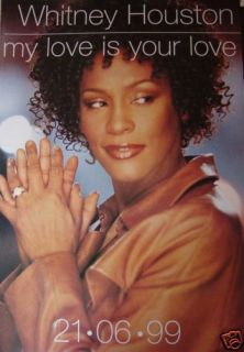 Whitney Houston My Love Is Your Love UK Promo Poster
