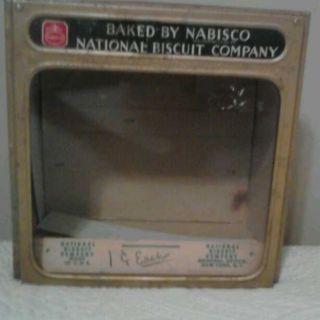 Antique Nabisco Store Display Complete Glass Cardboard Box Rare
