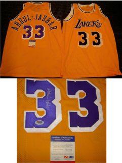 Kareem Abdul Jabbar Autographed Signed Lakers Jersey