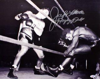 JAKE LaMOTTA Raging Bull vs. SUGAR RAY ROBINSON SIGNED 16x20 PSA/DNA
