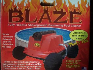 Blaze Fully Robotic Above Ground Swimming Pool Cleaner