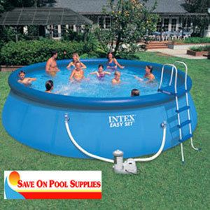 Intex 18x48 Above Ground Easy Set Deluxe Swimming Pool Package 57928