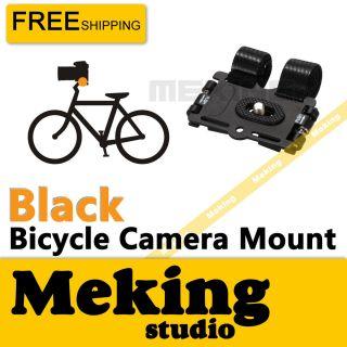 Bicycle Bike Camera Mount Holder Road Action Video Mount Tripod Black