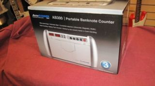 Accubanker AB300 Portable Bank Note Counter Counterfeit Money Detector