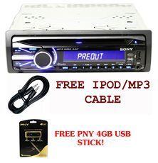 Sony CDX GT540UI Single Din Car CD//IPOD Receiver W/USB Input + 4GB