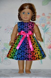 Sign Dress and Ribbon Fits American Girl Doll Clothes BX5