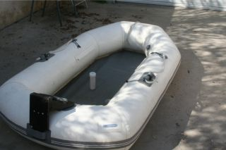 Achilles Dinghy Lt Series Inflatable Raft Boat with Two Oars and Case