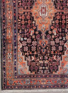 Antique Fine Persian MALAYER Hand Knotted Wool Rug with Abrash