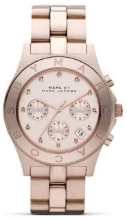 by Marc Jacobs Blade Crystal Index Rose Gold Ladies Watch MBM3102