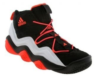 Adidas Mens Top Ten 2000 Basketball Shoes Black White Red