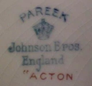 Lovely Acton Dinner Plate Johnson Brothers 1925 China