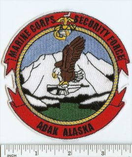 USMC Marines Patch Security Force Co Adak Alaska Mcsfco