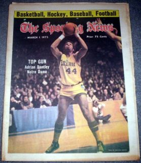 Notre Dame Irish Basketball 1975 Adrian Dantley Cover Feature Sporting