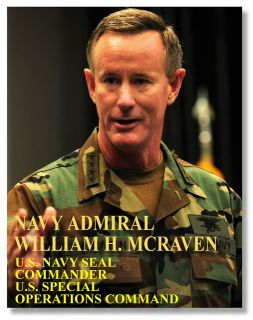 Admiral Mcraven Commander US Special Operations Command Challenge Coin