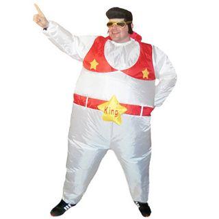 Inflatable Elvis The King Sumo Party Adult Fat Suit Fancy Dress Hen
