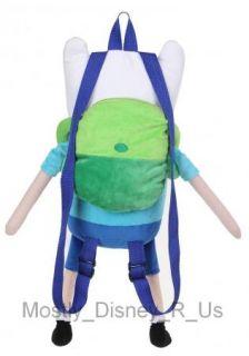 Adventure Time Finn And Jake FINN Plush Backpack Tote Bag Back To