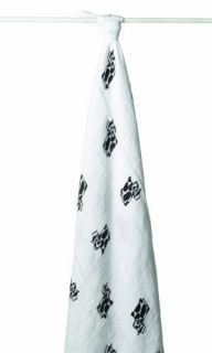 New Aden Anais Muslin Single Swaddle Wrap Moo Cow