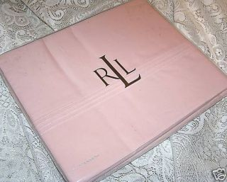 Ralph Lauren Addison Misty Rose Pink Twin Flat Sheet