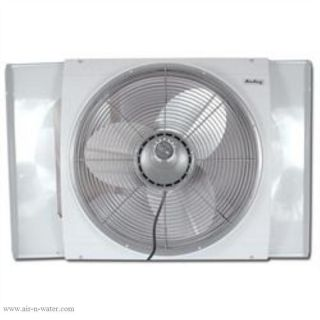 Air King 9166 White Reversible Whole House Window Exhaust Fan with