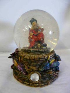 Adams Apple Wizard Dragon Magic Sorcerer Snow Globe