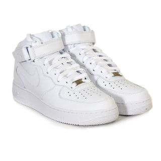 Nike Mens Air Force 1 Mid 07 White Leather Trainer