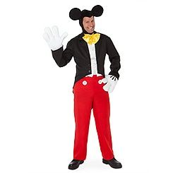 Adult Male L Tuxedo Mickey Mouse Costume Padded White Gloves NWT