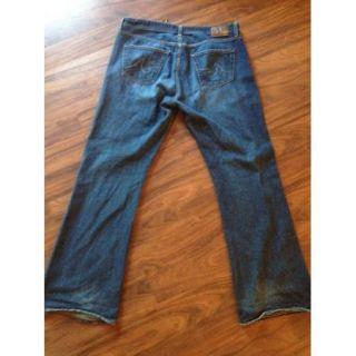 AG Adriano Goldschmied Men Dark Blue Jeans Sz 38 33 5 Wide FlareLeg