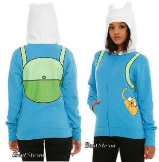 New Adventure Time Finn Jake I Am Finn Zip Costume Hoody Hoodie