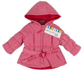 Agatha Ruiz de La Prada Strawberry Winter Coat Jacket Baby Pink Rose