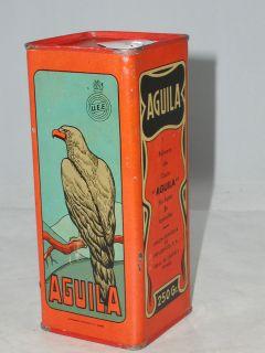 RARE Vintage Aguila Shot Gun Powder Tin Advertising Graphics 467 S