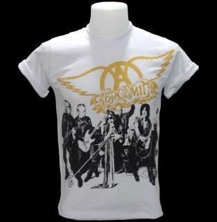 Aerosmith Shirt Top Tee Joe Perry Steven Tyler US 70 Glam Hard Heavy