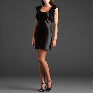New Aidan Mattox Black Ruffle Cocktail Dress 10