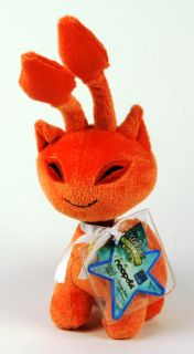 New Neopets Orange Aisha Plush Toy with Tag Unused Code Free Shipping