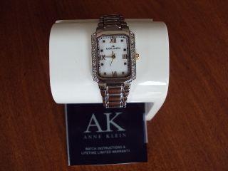 ak anne klein women 10 9609mptt swarovski crystal accented silver tone