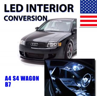 AGT Xenon White Interior LED Package Kit for Audi A4 2005 2008 B7 Only