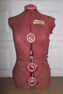 vintage adjustable dress form mannequin kwik fit