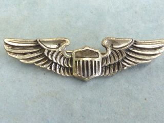 Vintage Sterling Silver Air Force Wings Pin Sterling Silver