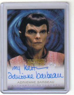 Adrienne Barbeau Auto Autograph Star Trek The Complete Deep Space Nine