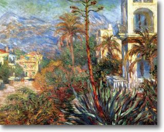 Claude Monet The Villas in Bordighera Fine Art Canvas Giclee Sample