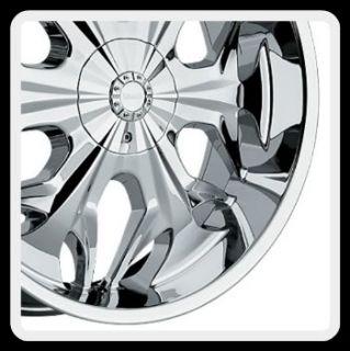Akuza Reaper 508 5x120 BMW Camaro S10 Range Rover Chrome Wheels Rims