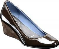 Rockport Eselda Women Shoes Patent Brown Leather 9W NWB Beautiful