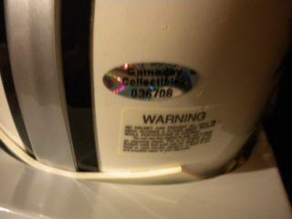Ahmad Bradshaw Autographed Hand Signed Super Bowl XLVI Mini Helmet COA