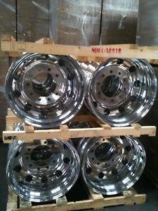 19 5 ALCOA ALUMINUM WHEELS RIMS DODGE STERLING 4500 5500 DUALLY TRUCK