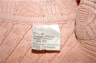 Vintage ~ ALAIA   PARIS ~ Peach Viscose Knit with Ribbing