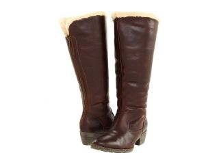 265 Born Aleksi Canoe Brown Shearling Knee High Tall Winter Boots Sz