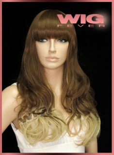Long Mixed Brown Golden Blonde Reddish Brown 25 inches Wavy Fashion