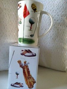 Golf Golfers Kent Pottery Coffee Latte Mug