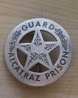 GUARD ALCATRAZ PRISON BADGE BW 63 WESTERN POLICE